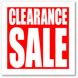 Best items to Buy on Sale or on Clearance
