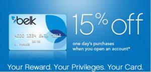Belk Credit Card Rewards
